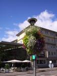 Tübingen,Straßenlampe m.Blumen